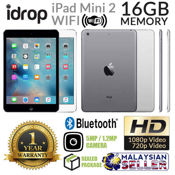 ORIGINAL BRAND NEW Apple iPad Mini 2 Wifi 16GB - with 1 Year Warranty [ Space Gray / Silver ]