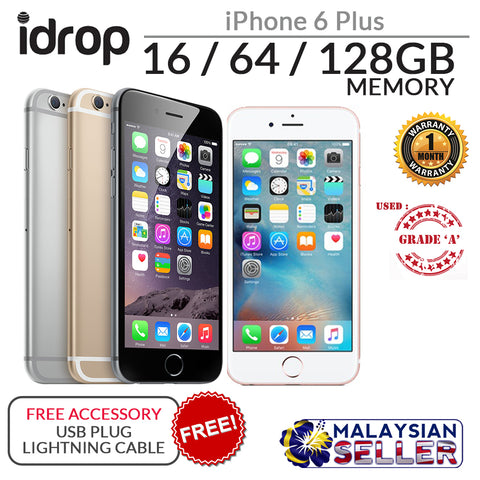 ORIGINAL GRADE A [ USED PHONE ] Apple iPhone 6 Plus 16/64/128GB  + Free Accessory ( GOLD / SPACE GRAY)