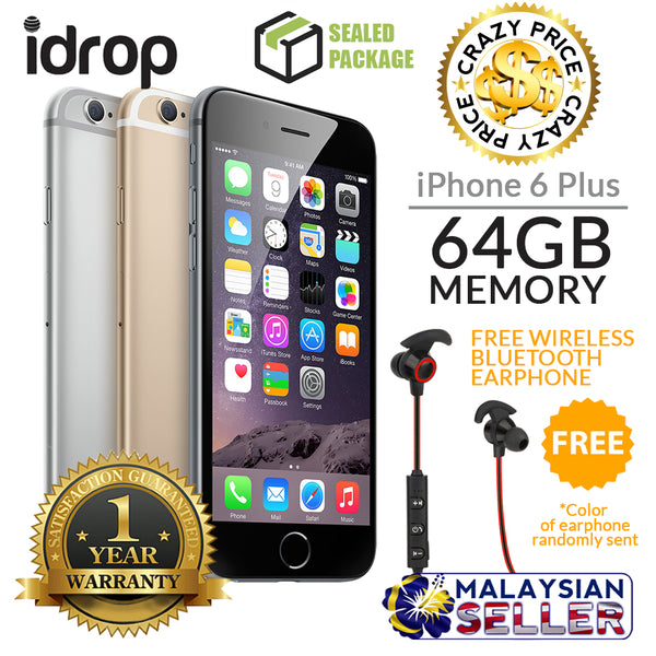 Apple iPhone 6 Plus 64GB - FACTORY UNLOCKED with 1 Year Warranty + Free Gift