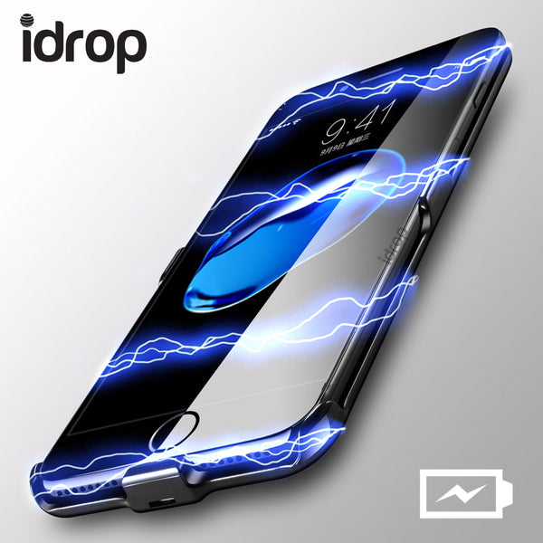 idrop HK-02 Black Power Bank Splint Mobile Phone Casing Charger for iPhone (4.7) and (5.5)