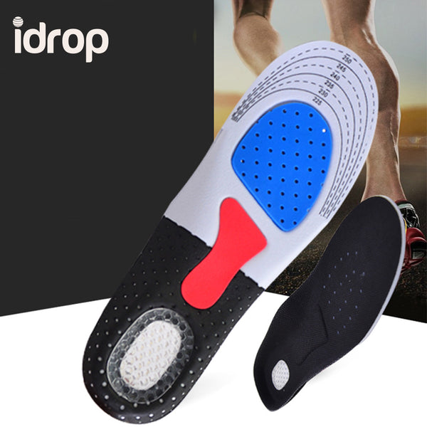 idrop 1 Pair Sports Insole Breathable Comfort - heel pain, plantar fasciitis, knee, and back pain - Superb quality
