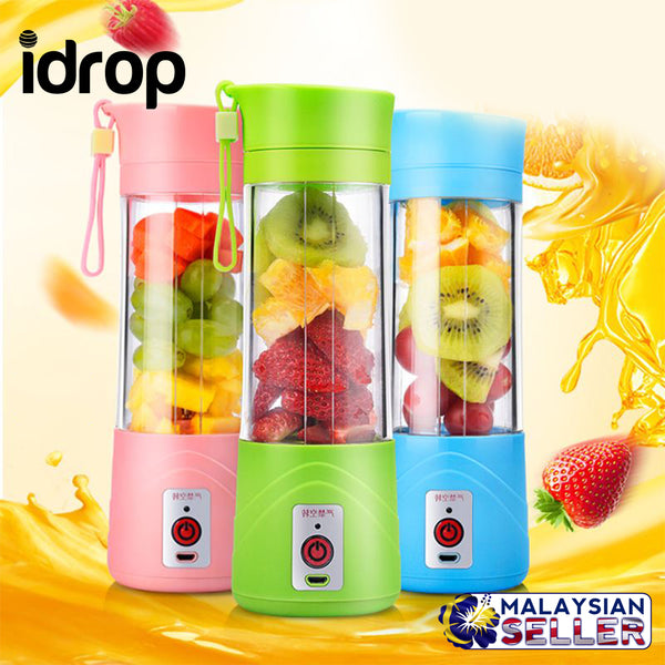 idrop Portable USB Electric Fruit Juicer Citrus Cup Ice Crusher Smoothie Maker 380ML [RANDOM MIXED COLOR]