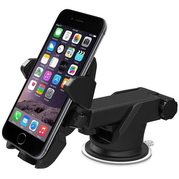 LONG NECK ROTABLE EASY ONE-TOUCH CAR MOUNT HOLDER - ADJUSTABLE WIDTH 5.5-9CM