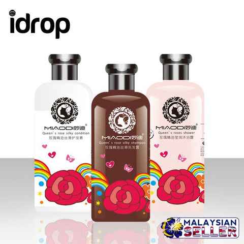 idrop Natural Rose Essential Romance Soft Shampoo Set
