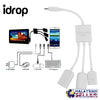 idrop Multi-functional 3 Port Micro USB OTG Hub Adapter Cable