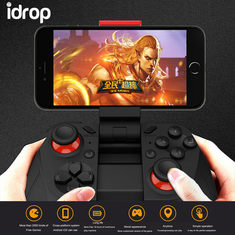 idrop MOCUTE-050 Wireless Gamepad player Bluetooth 3.0 Game Controller Handle Joystick for iPhone iOS Android smartphone