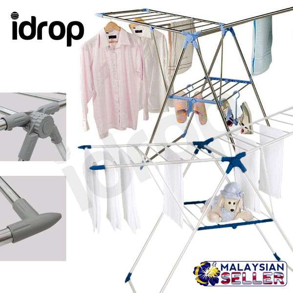 Idrop 2 In1 Muntifunction Foldable Rack With Ladder Stainless Steel