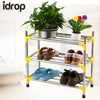 idrop 3 Layer stainless steel shoe frame shoes shelves shelves home finishing frame