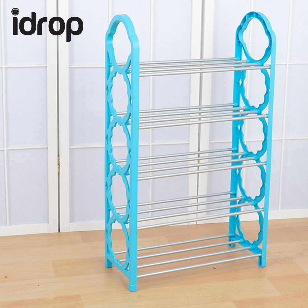 idrop Five Layer Plastic Stainless Steel Shoes Shelf Storage Shoe ...