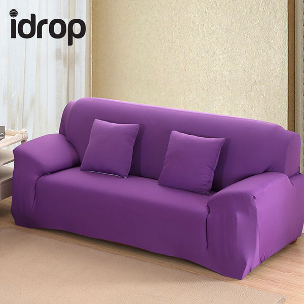 idrop Pure color elastic sofa cover 2-Seat