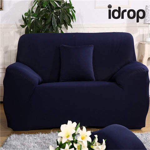 idrop Pure color elastic sofa cover