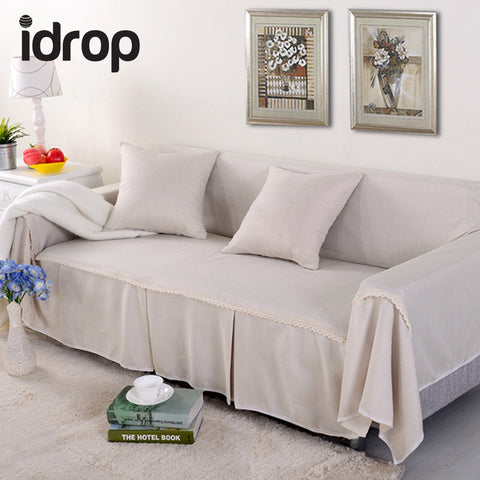 idrop Linen Sofa Cover Single