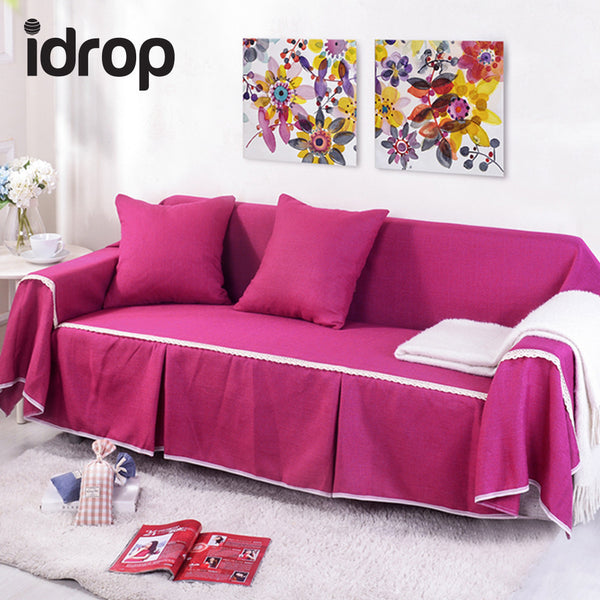 idrop Linen Sofa Cover Triple