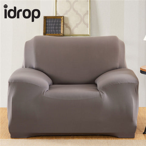 idrop Pure color elastic sofa cover 1-Seat
