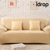 idrop Pure color elastic sofa cover 3-Seat
