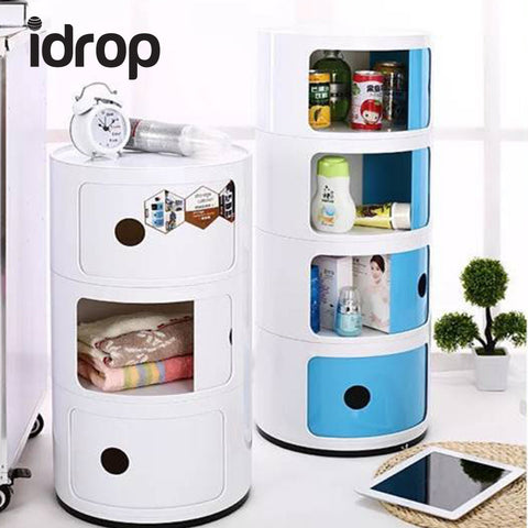 idrop Multi-function 3-layer Round Storage Cabinet