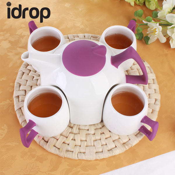idrop Set of 6 ceramic tea sets home set of water with teapot ceramic