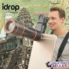 idrop Clip-on 12x Optical Zoom HD Telescope Camera Lens For Universal Mobile Phone