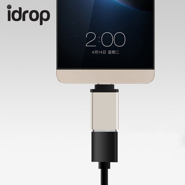 idrop Mini Portable Aluminum Alloy USB3.0 Type-C OTG Charger Data Adapter Converter