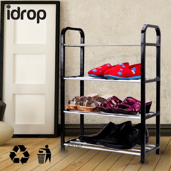 idrop 4 Tier Shoe Rack furniture in Black, Blue or Red variation color