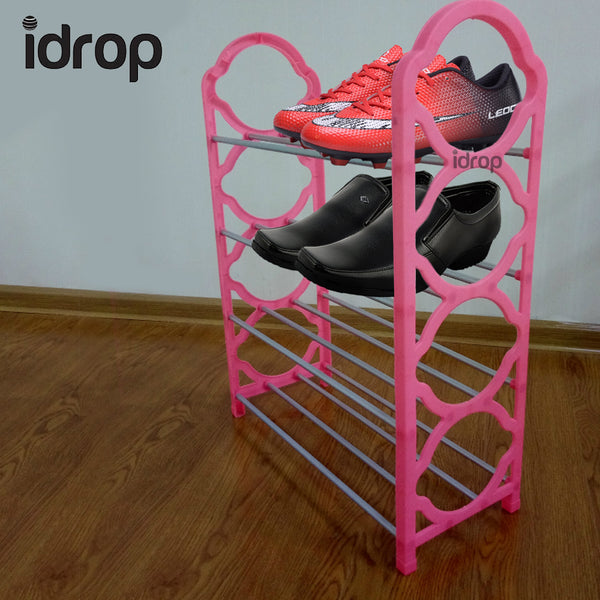 idrop 4 Tier Shoe Rack furniture in Green, Pink, Purple, Blue, or Black variation color