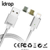 idrop Metal Magnetic Data Cable 2.4A Charging and Data Transition with Micro, Lightning and Type C charging magnetic connector