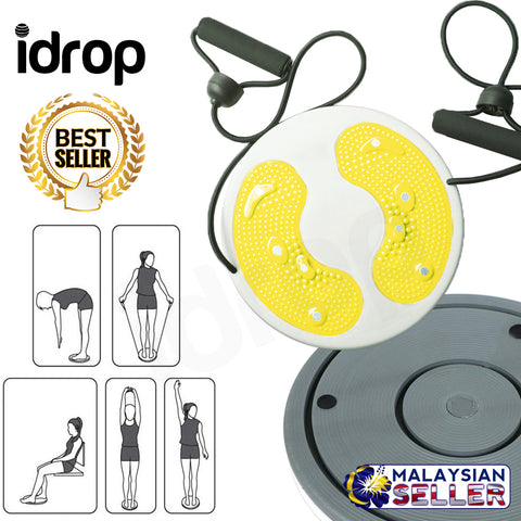idrop Fitness Balance Waist Twisting Disc with Pull Rope for Home Gym