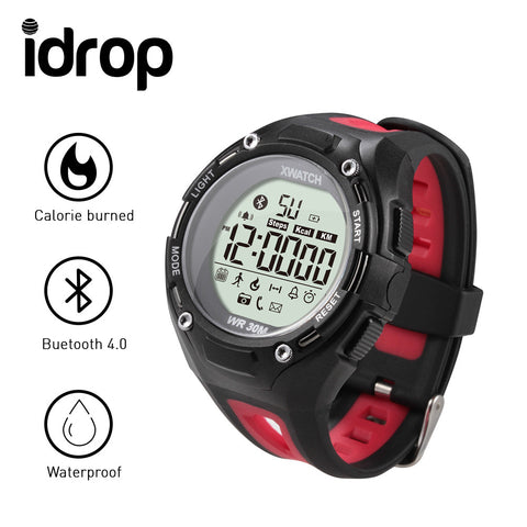 idrop XWatch Sports Smart Watch 3ATM Waterproof Dustproof Dropproof Sports Bluetooth 4.0