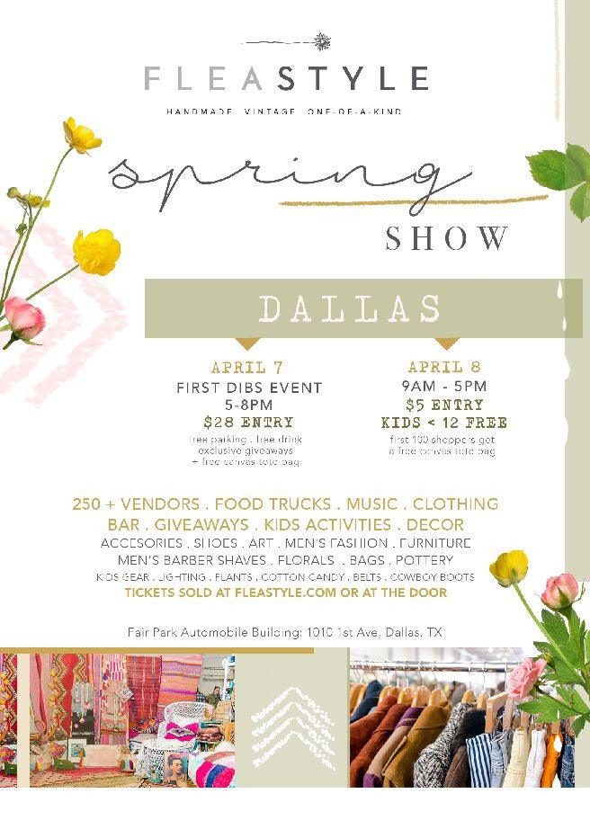 Come shop our booth at FLEASTYLE this weekend!