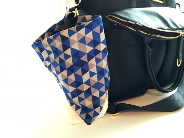 Burpdana - Multi Purpose - Burp Cloth, Drool Catcher, Snap to diaper bag or stroller for easy cleanup