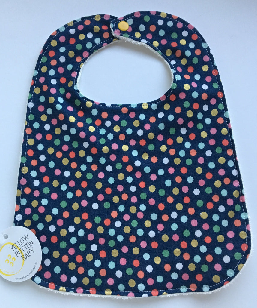 Hexagon Navy Bib
