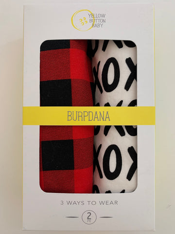 Buffalo Plaid / XOXO Burpdana Gift Set