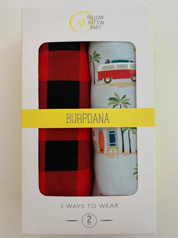 Buffalo plaid / Beach Burpdana Gift Set