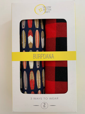 Surf / Buffalo Plaid Burpdana Gift Set