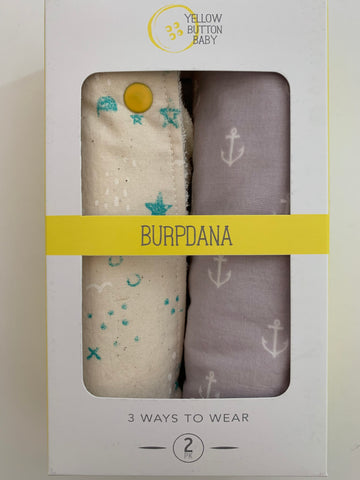 Teal & White / Anchor Burpdana Gift Set