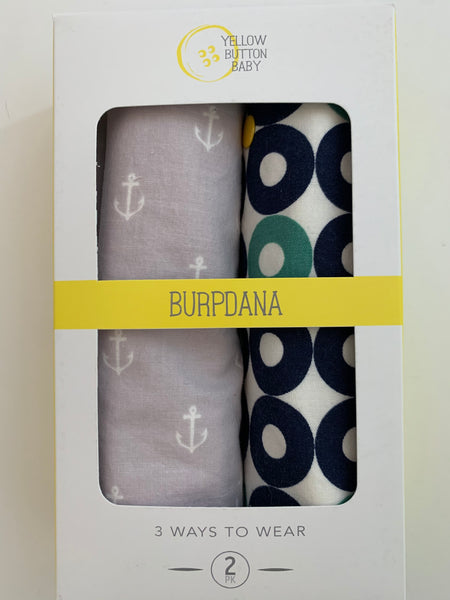 Anchor / Nautical Burpdana Gift Set
