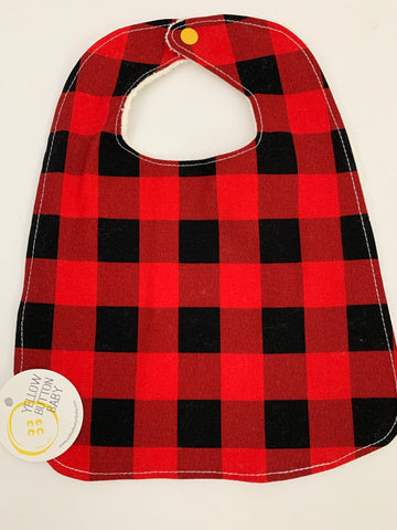 Buffalo Plaid Bib