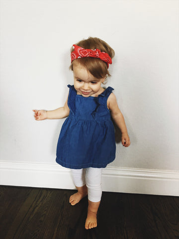 Red Bandana Print Headband