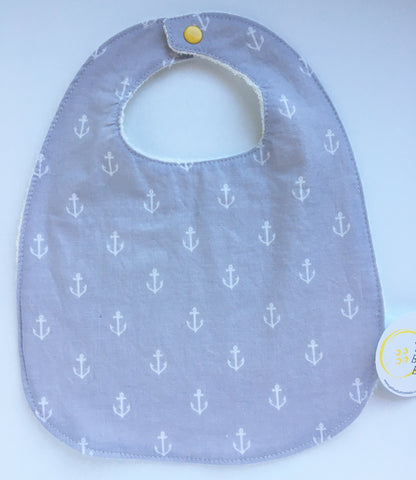 Anchor Grey Bib