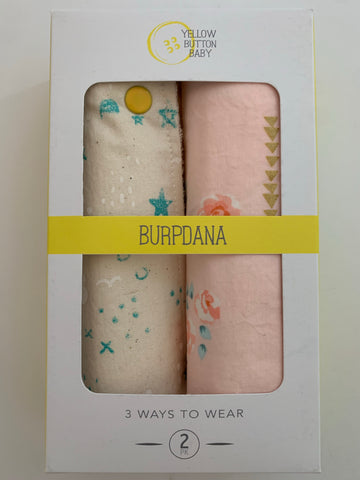 Teal & White / Rose Gold Burpdana Gift Set