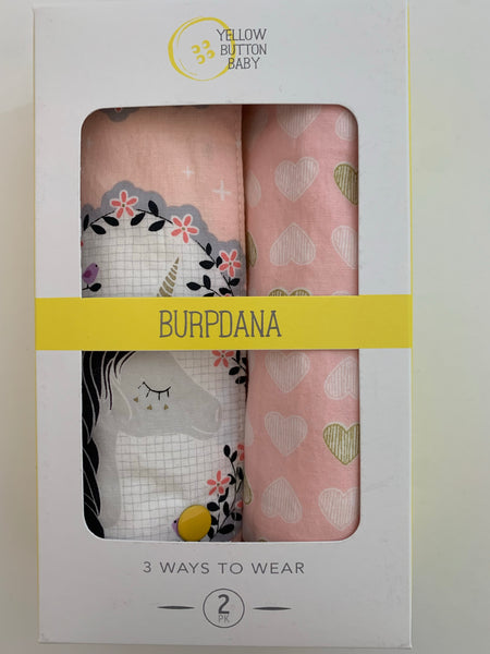 Unicorn / Heart Burpdana Gift Set