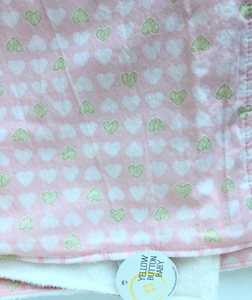 Pink Heart Blanket - Travel & Large size available