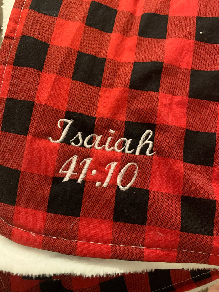Buffalo Plaid Blanket - Travel & Large size available