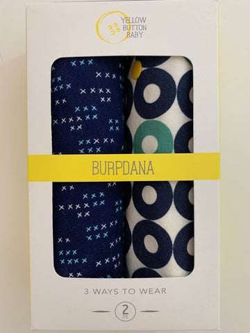 Navy X / Nautical Burpdana Gift Set