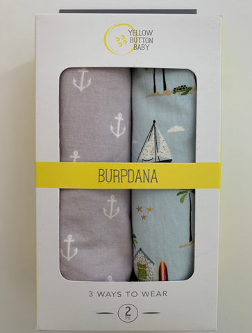 Anchor / Beach Burpdana Gift Set