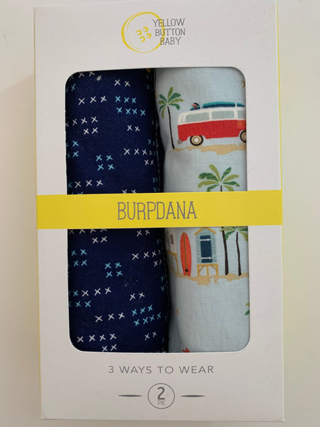 Navy X / Beach Burpdana Gift Set