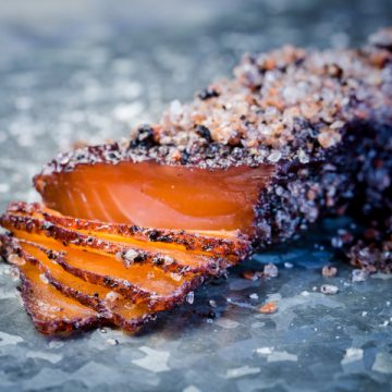 Native Eating: Tasmanian Pepperberry Cured Huon Salmon