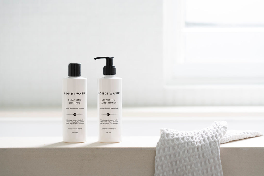 THE ACTIVE INGREDIENTS IN OUR CLEANSING SHAMPOO AND CONDITIONER