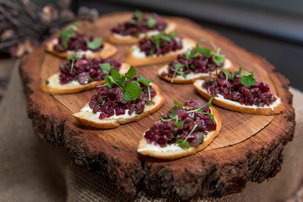 Native Eating: Carpaccio Kangaroo with Beetroot and Native Fruit