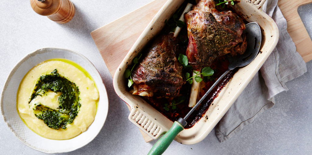 Native Eating: Saltbush Lamb Shanks with Watercress Polenta